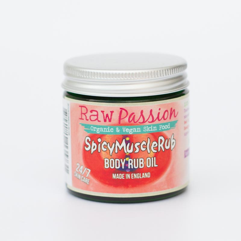RAW PASSION - Spicy Muscle Rub Oil - Raw Organic Beauty Products