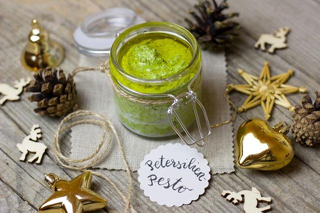 Vegan Christmas Parsley Pesto
