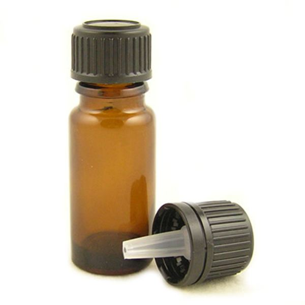 Amber Glass Bottles With Dropper and Tamper Proof Screw Cap