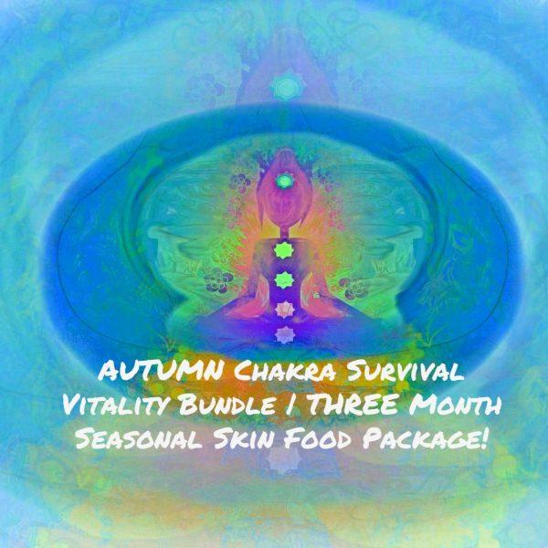 AUTUMN Chakra Survival Vitality Bundle | THREE Month Seasonal Skin Food Package!