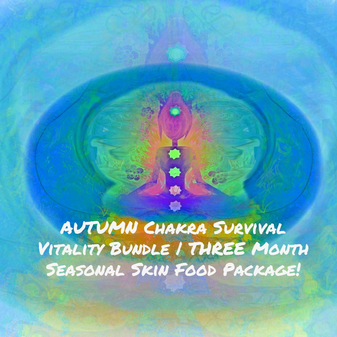 AUTUMN Chakra Survival Vitality Bundle | THREE Month Seasonal Skin Food Package!