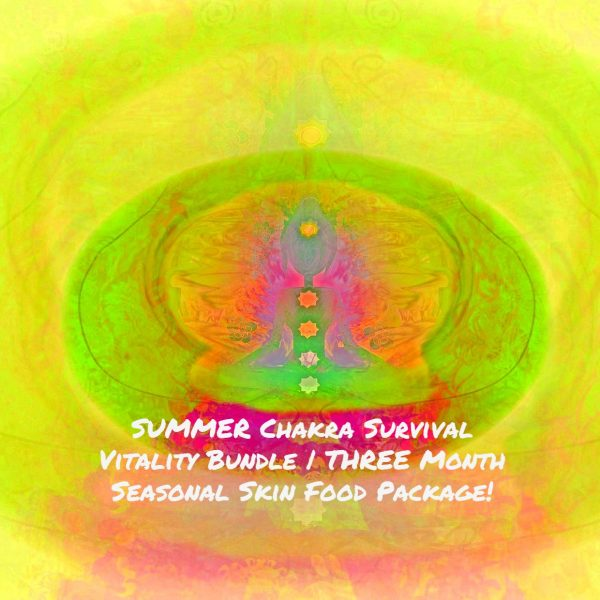 SUMMER Chakra Survival Vitality Bundle | THREE Month Seasonal Skin Food Package!